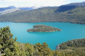 Heart-Shaped Island, Gutierrez Lake, Patagonia