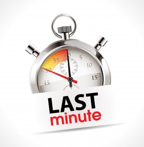 Avoid Last Minute Bookings