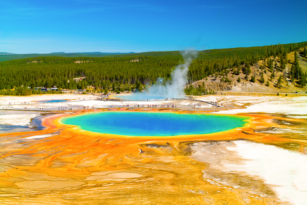 Giant Prismatic Spring, Yellowstone National Park, Wyoming