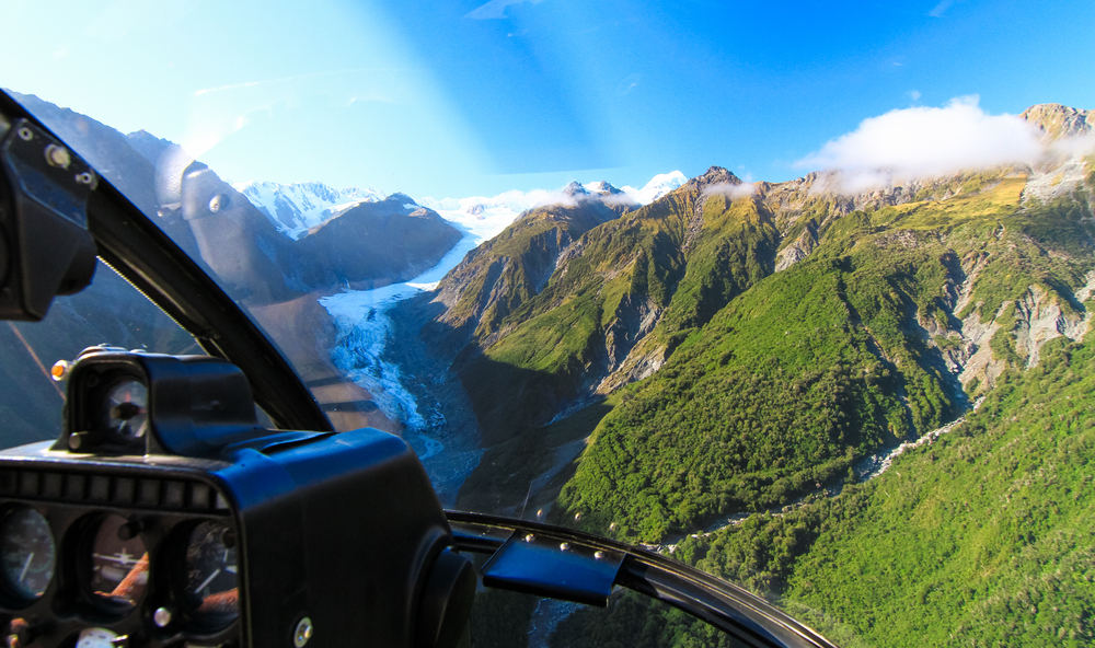 Sky Diving at Fox Glacier